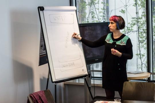 Kurs Kreatywnego Pisania Miasta Literatury UNESCO, warsztaty z Sylwią Chutnik, fot. Inga Szeliga (źródło: dzięki uprzejmości organizatora)