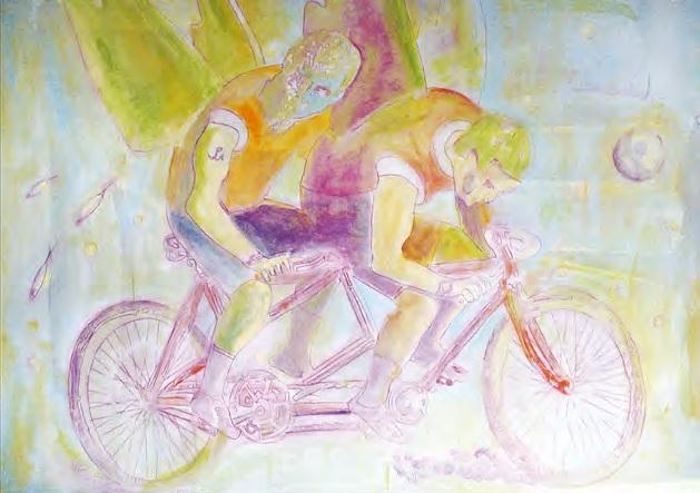 """Krzysztof Winnicki, """"Angel-dust"""", olej, 100×70 (źródło: """"Rita Baum"""", nr 43 / wiosna 2017)"""
