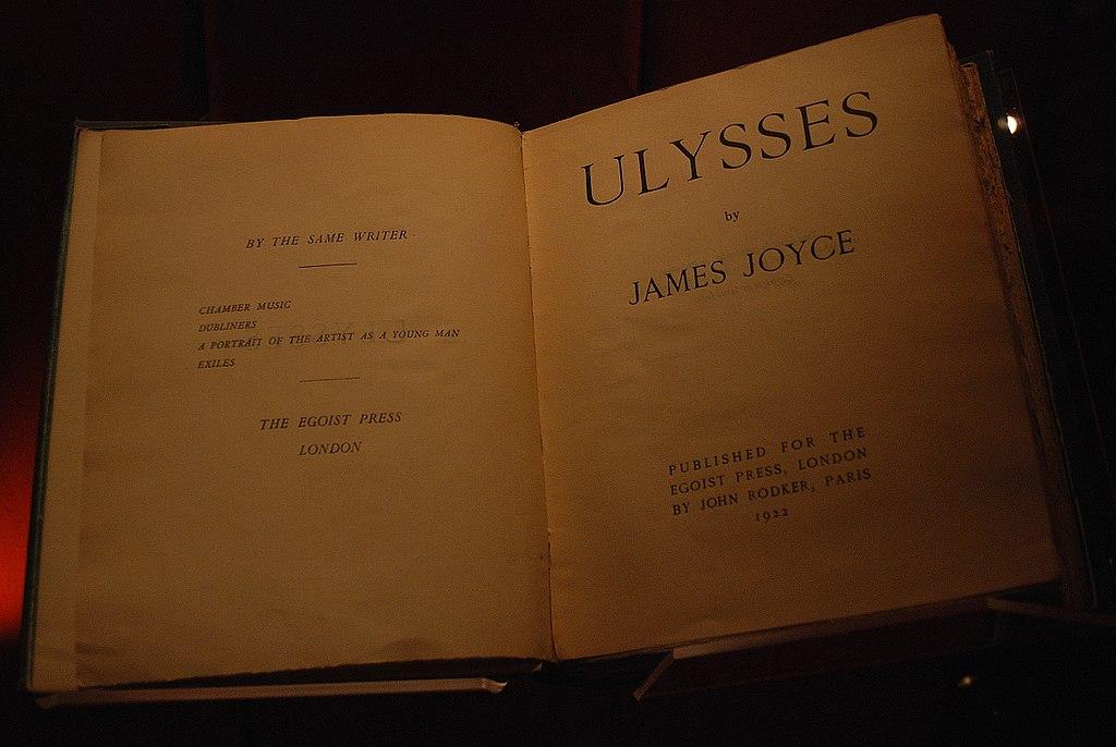"James Joyce, ""Ulisses"" (źródło: Wikipedia, na licencji Creative Commons)"