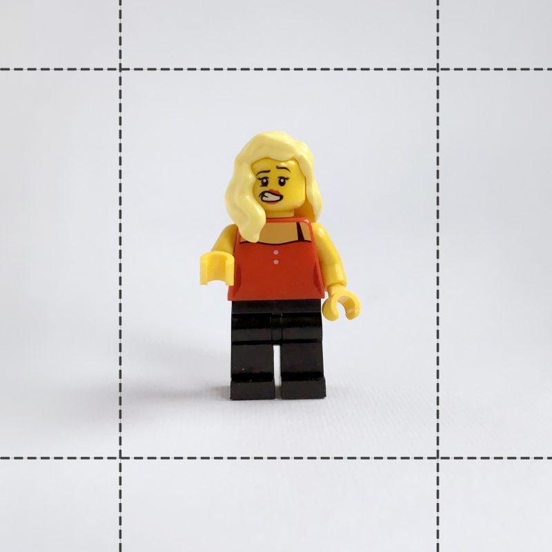 figurka lego fotografowanie małych obiektów