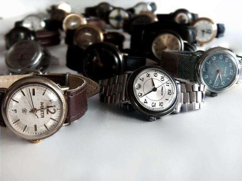 zegarki z Petrodworcowej Fabryki Zegarków Rakieta