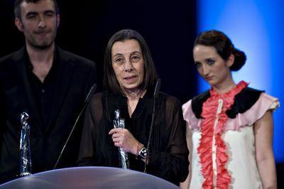Magdalena Biedrzycka odbiera Europejską Nagrodę Filmową, fot.PAP