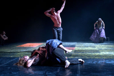 Spektakl 100 Wounded Tears grupy DOT 504 z Pragi, fot. Peter Otta