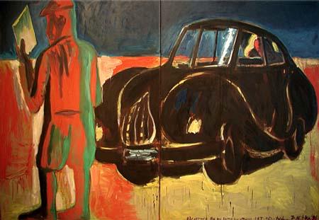 """Zdzisław Nitka, """"Ucieczka do Egiptu w stylu lat dwudziestych"""", 1991"""