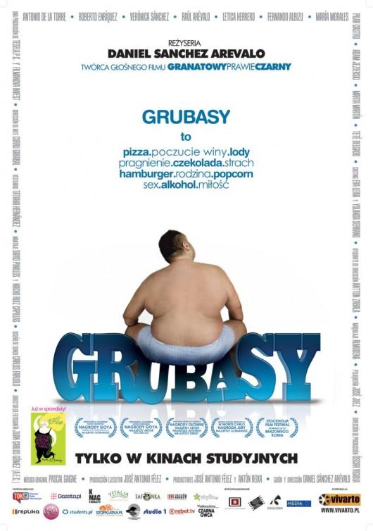 """Polski plakat do filmu """"Grubasy"""" w reż. Daniela Sancheza Arevalo"""