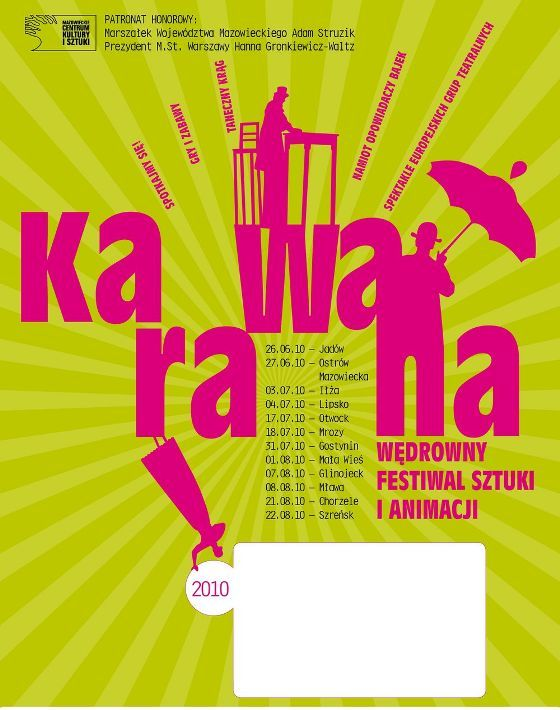 "Plakat festiwalu ""Karawana 2010"""