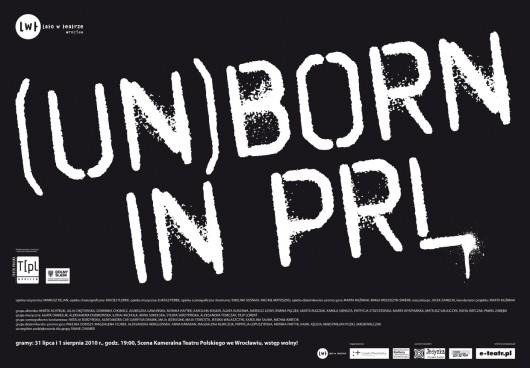 (Un)Born in PRL - plakat