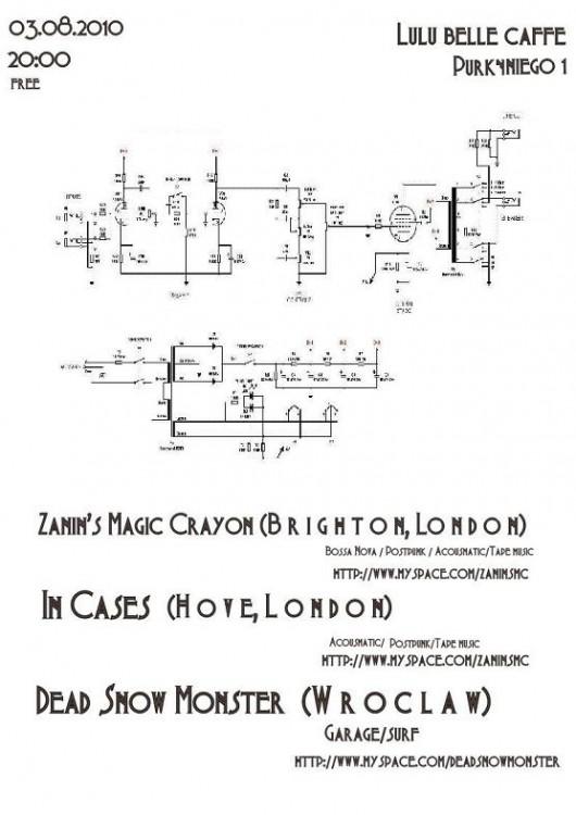 Plakat promujący koncerty