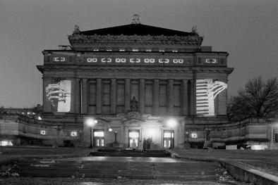 """Krzysztowf Wodiczko """"Allegheny County Memorial Hall"""""""