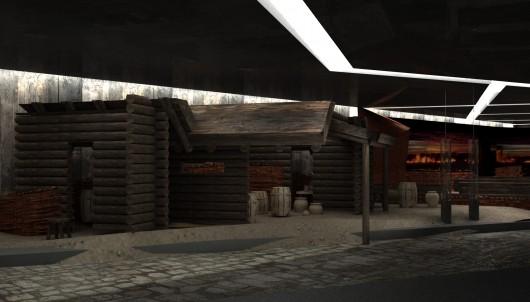 Rekonstrukcja średniowiecznych domostw.