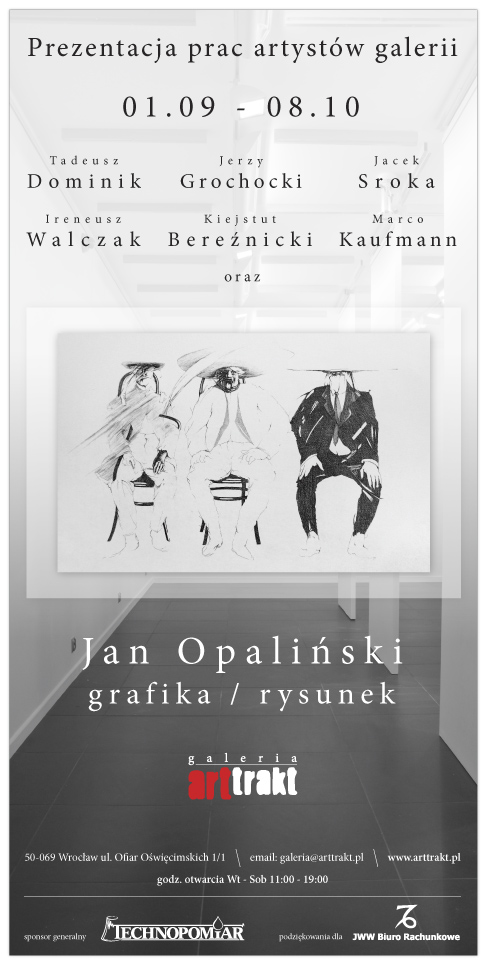 Zaproszenie na wystawę w Galerii Arttrakt