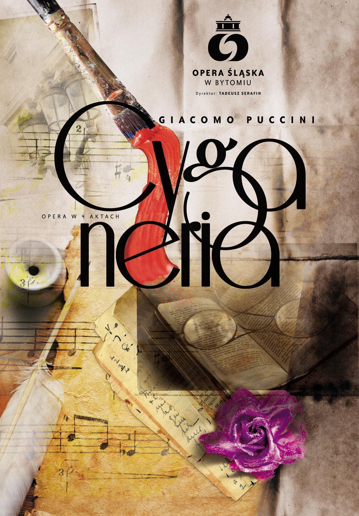 Cyganeria Giacomo Puccini - plakat