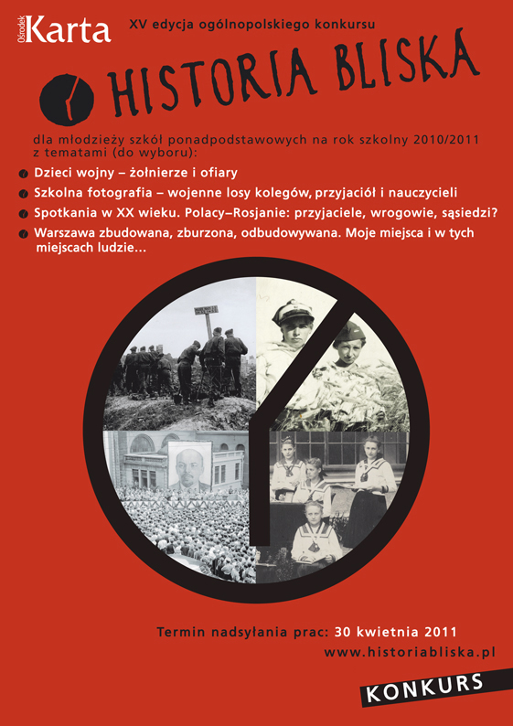 Historia Bliska, 15 edycja ogólnopolskiego konkursu - plakat