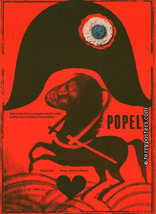 """Czeski plakat do filmu """"Popioły"""""""