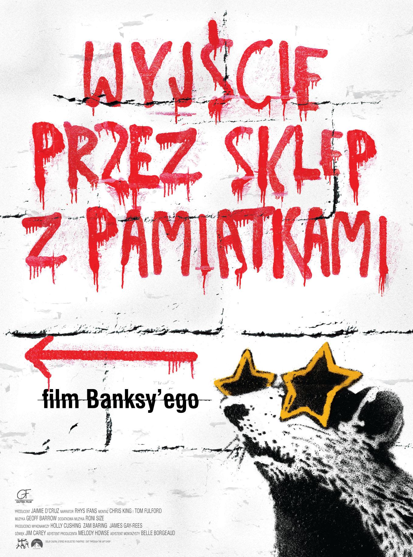 Wyjście przez sklep z pamiątkami, film Banksy'ego - plakat