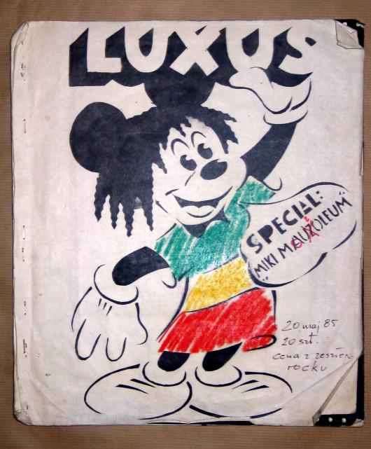 Grupa Luxus, okładka magazynu Luxus, wyd. bez numeru (w chronologii nr.5), data wydania 20 maj 1985