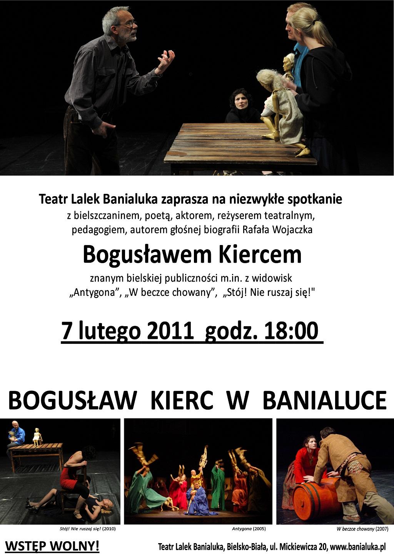 Spotkanie z Bogusław Kiercem - plakat