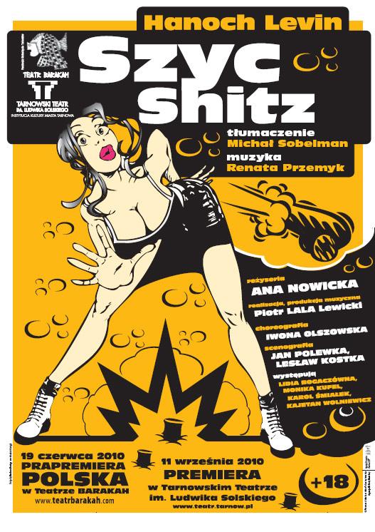 Spektakl Szyc, Teatr Barakah w Krakowie - plakat