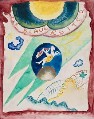 Wasilij Kandiński Design na okładkę almanachu Der Blaue Reiter, 1911