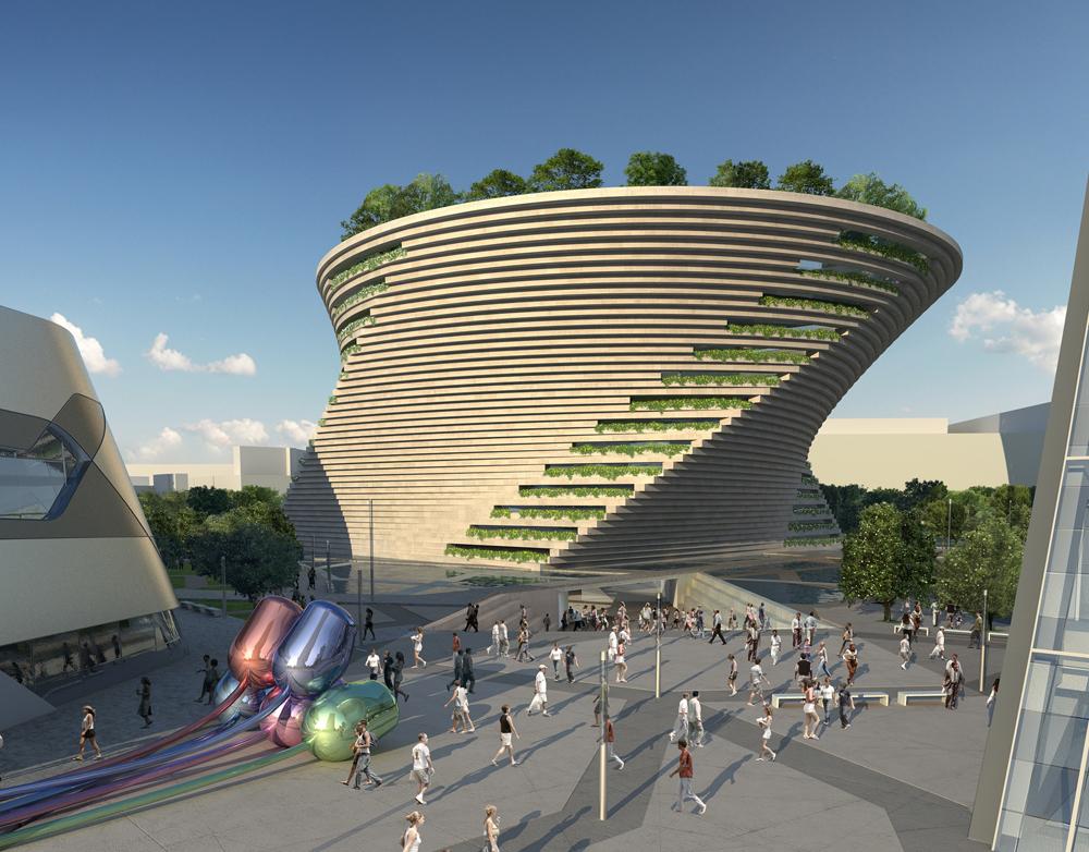 Contemporary Art Museum inspired by Leonardo Da Vinci (c)Stack!, FieraMilano, Milan, Italy