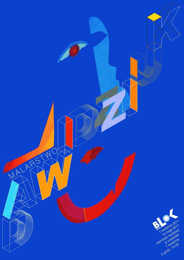 Malarstwo Mikołaja Dawidziuka w Galerii Blok, plakat
