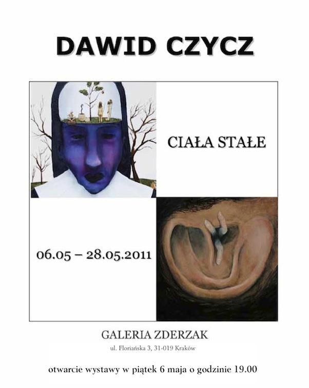 Dawid Czycz, Ciała stałe, poster udostępniony przez Galerię Zderzak