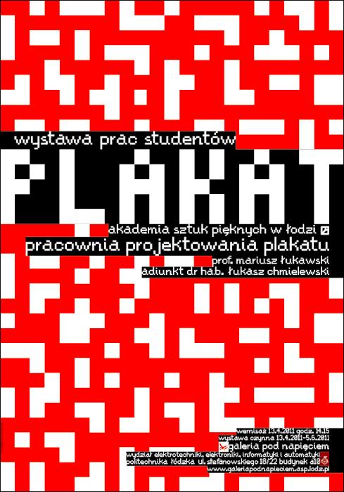 Plakat - wystawa prac studentów ASP