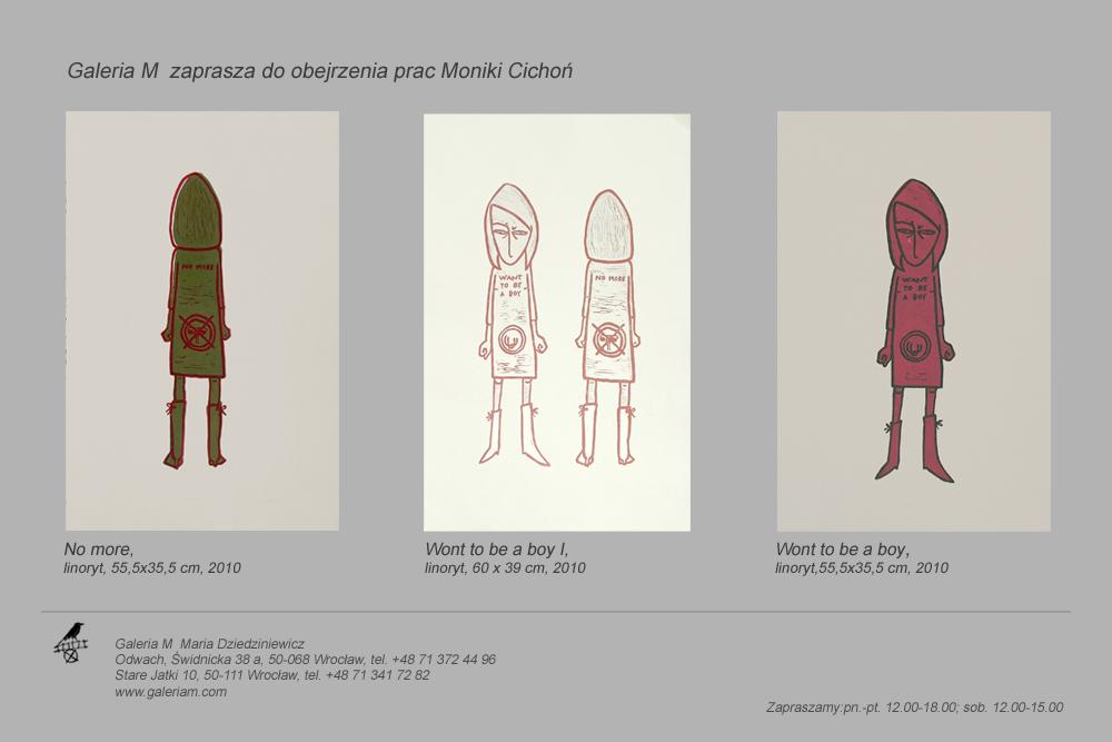 Prace Moniki Cichoń w Galerii M, zaproszenie