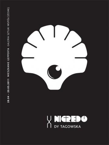 Nigredo Dy Tagowskiej, projekt kartki promocyjnej autorstwa Łukasza Palucha