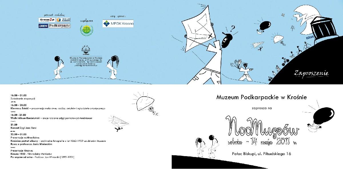 Plakat Nocy Muzeów 2011 w Krośnie