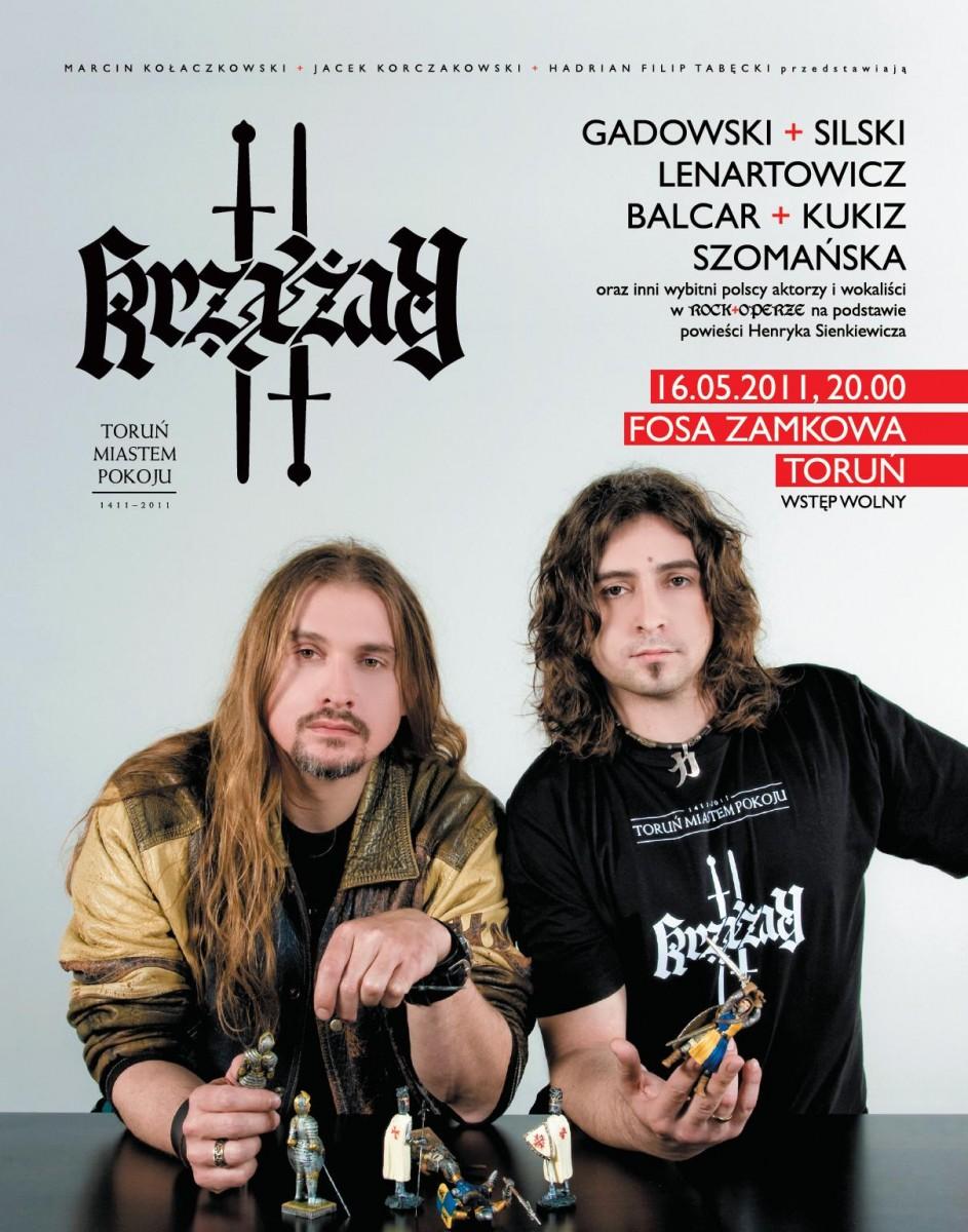 """Plakat promujący rock-operę """"Krzyżacy"""" (materiały promocyjne organizatora)"""