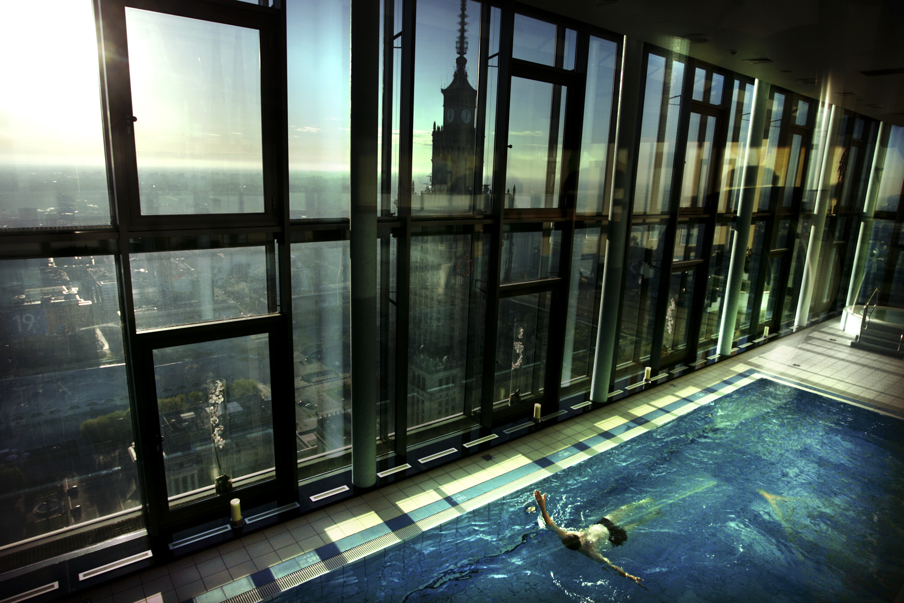 """Fot. Adam Lach """"Warsaw Intercontinental Hotel with highest placed swimming pool in Poland"""""""