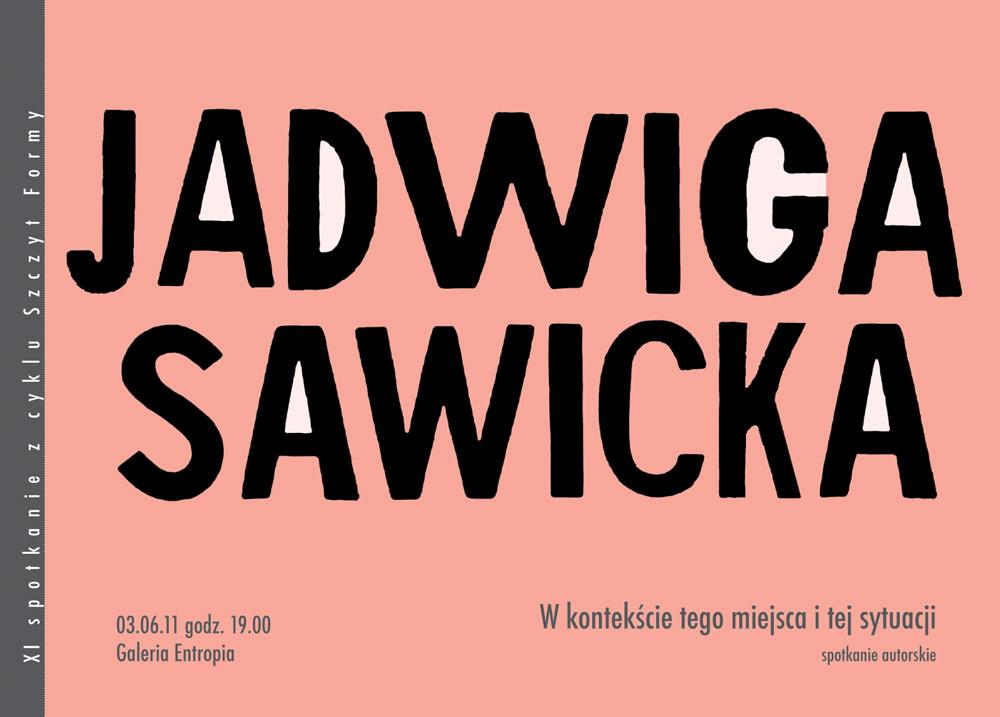 """Jadwiga Sawicka """"W kontekście tego miejsca i tej sytuacji"""""""