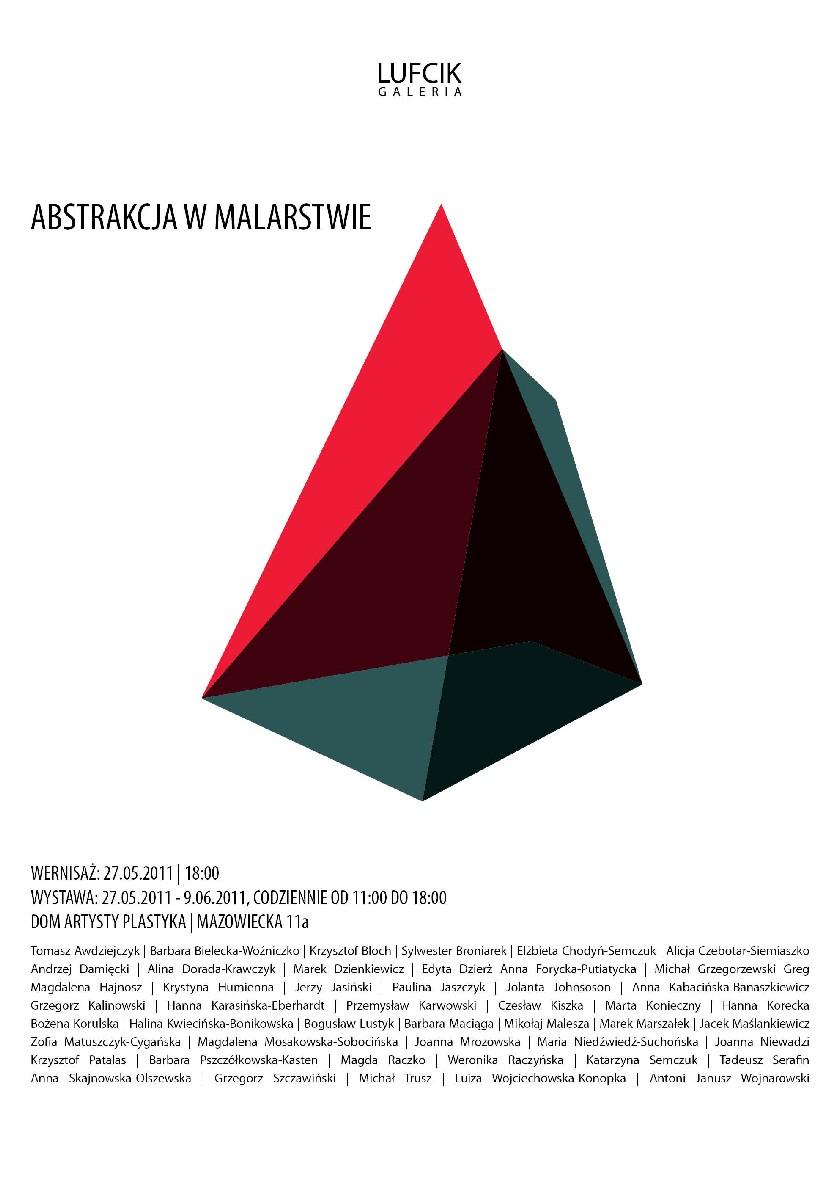 """wystawa """"Abstrakcja w malarstwie"""" - plakat, materiał udostępniony przez organizatora"""