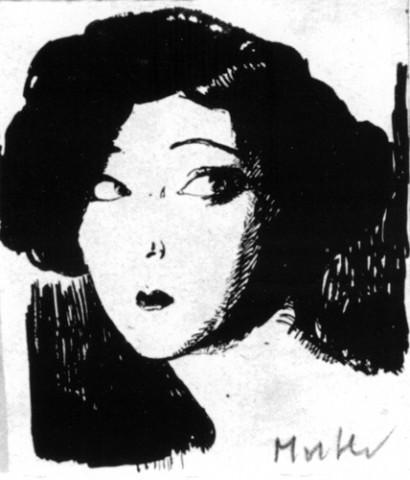 Mela Muter, Portret pisarki Sidonie-Gabrielle Colette, zbiory Muzeum Uniwersyteckiego w Toruniu