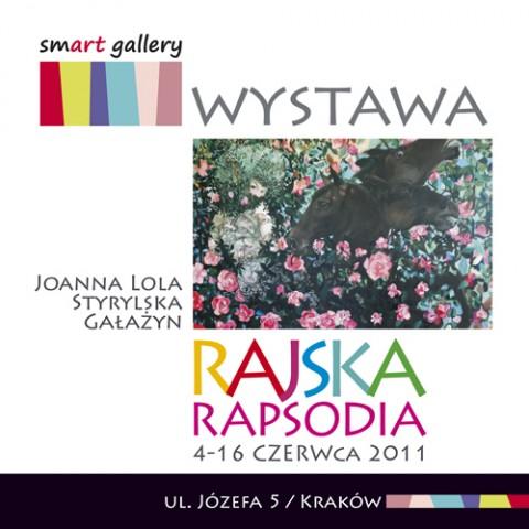 Zaproszenie na wystawę Rajska rapsodia, materiały udostępnione przez organizatora