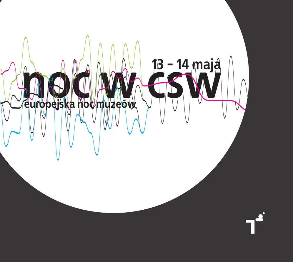 Noc Muzeow w CSW, plakat udostępniony przez CSW Znaki Czasu w Toruniu