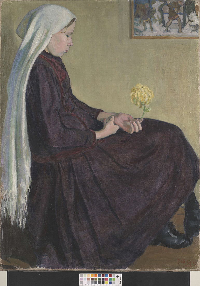 Peet Aren, Portret siostry, 1912, Muzeum Sztuki w Tartu, fragment wystawy Sztuka z Estonii, materiały udostępnione przez Muzeum Narodowe w Warszawie