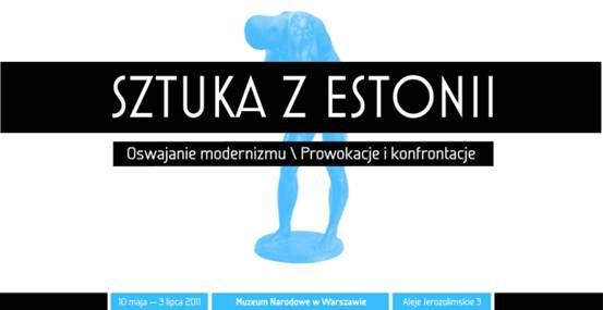 Sztuka z Estonii, zaproszenie na wystawę, materiały udostępnione przez Muzeum Narodowe w Warszawie