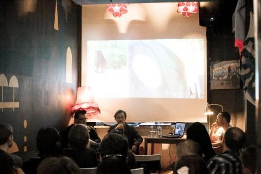 Dyskusja w OiW ze Zbiokiem i Ixi Colorem. Materiały udostępnione przez organizatora