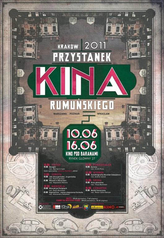 """""""Przystanek rumuńskiego kina"""" w Kinie pod Branami, plakat"""
