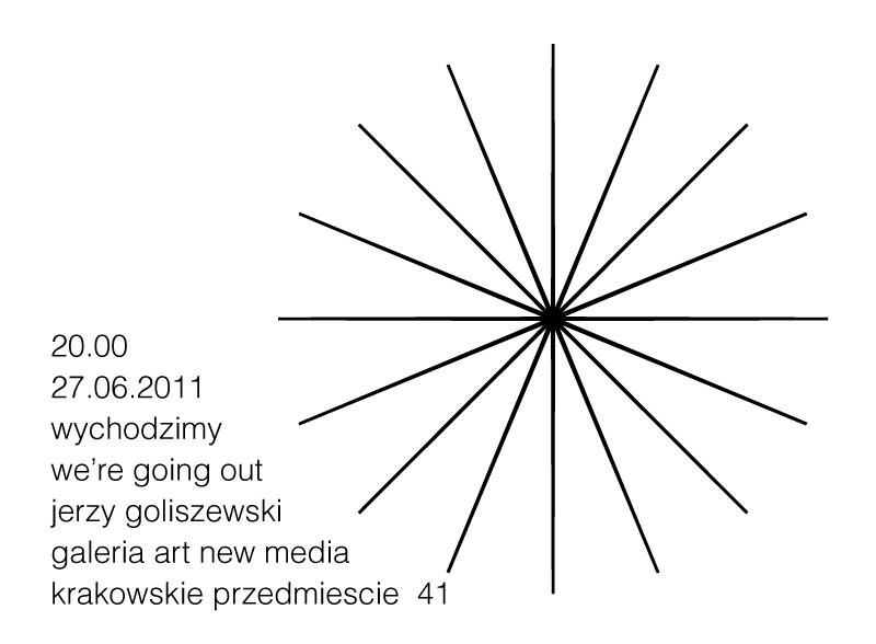 """Jerzy Goliszewski, """"Wychodzimy"""""""