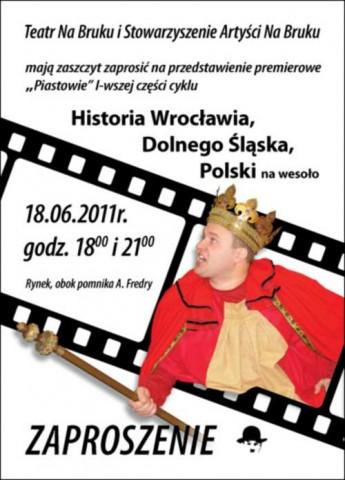 """""""Historia Dolnego Śląska, Wrocławia na wesoło"""" (zdjęcie pochodzi z materiałów organizatora)"""
