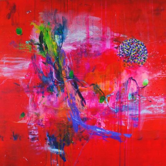 """Fran Herreros """"Jardin Secreto III"""", 100 x 100 cm. Materiały udostępnione przez organizatora"""