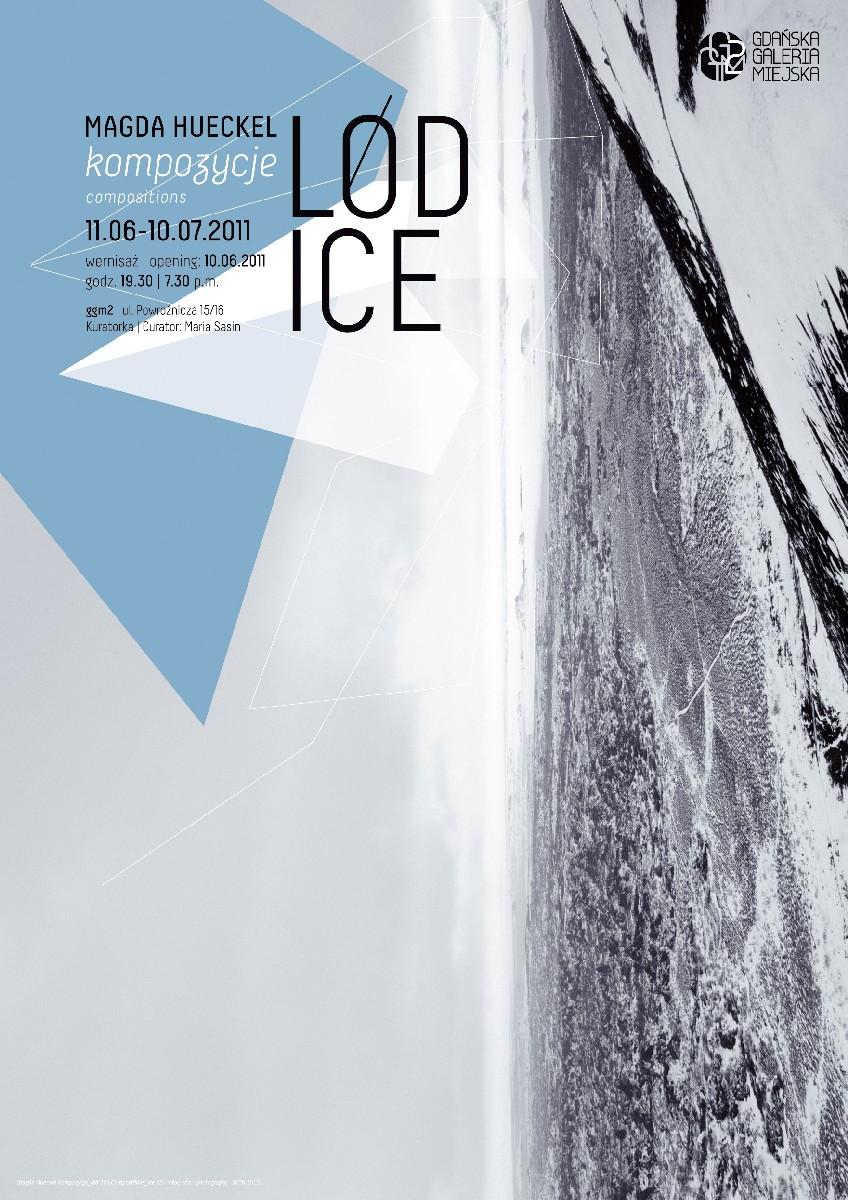 """Magda Hueckel, """"Kompozycje (lód)"""" - zaproszenie, materiał udostępniony przez organizatora"""
