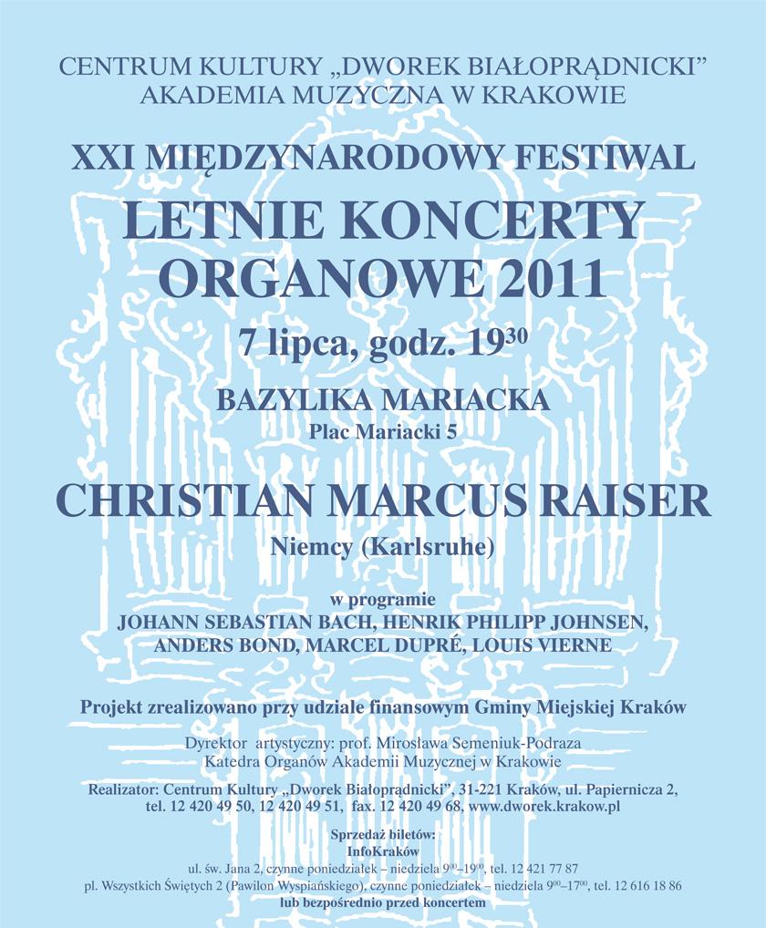 """""""Międzynarodowy Festiwal Letnie Koncerty Organowe"""" - plakat, materiał udostępniony przez organizatora"""
