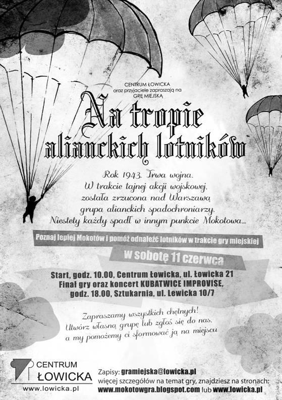 """""""Na tropie alianckich lotników"""" - plakat, materiał udostępniony przez organizatora"""