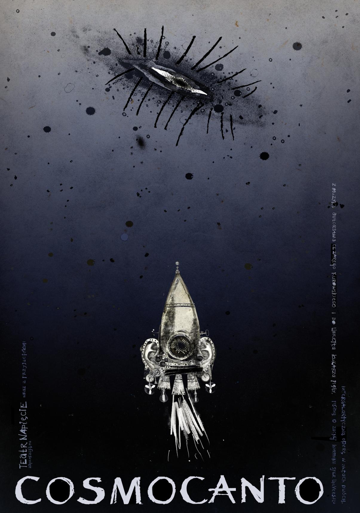 "Plakat ""Cosmocanto"". Projekt: Ryszard Kaja"