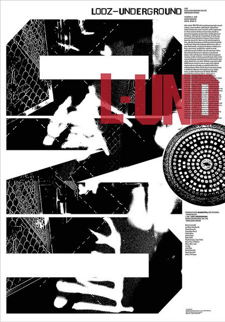 Sławek Kosmynka, projekt plakatu na wystawę L-UND