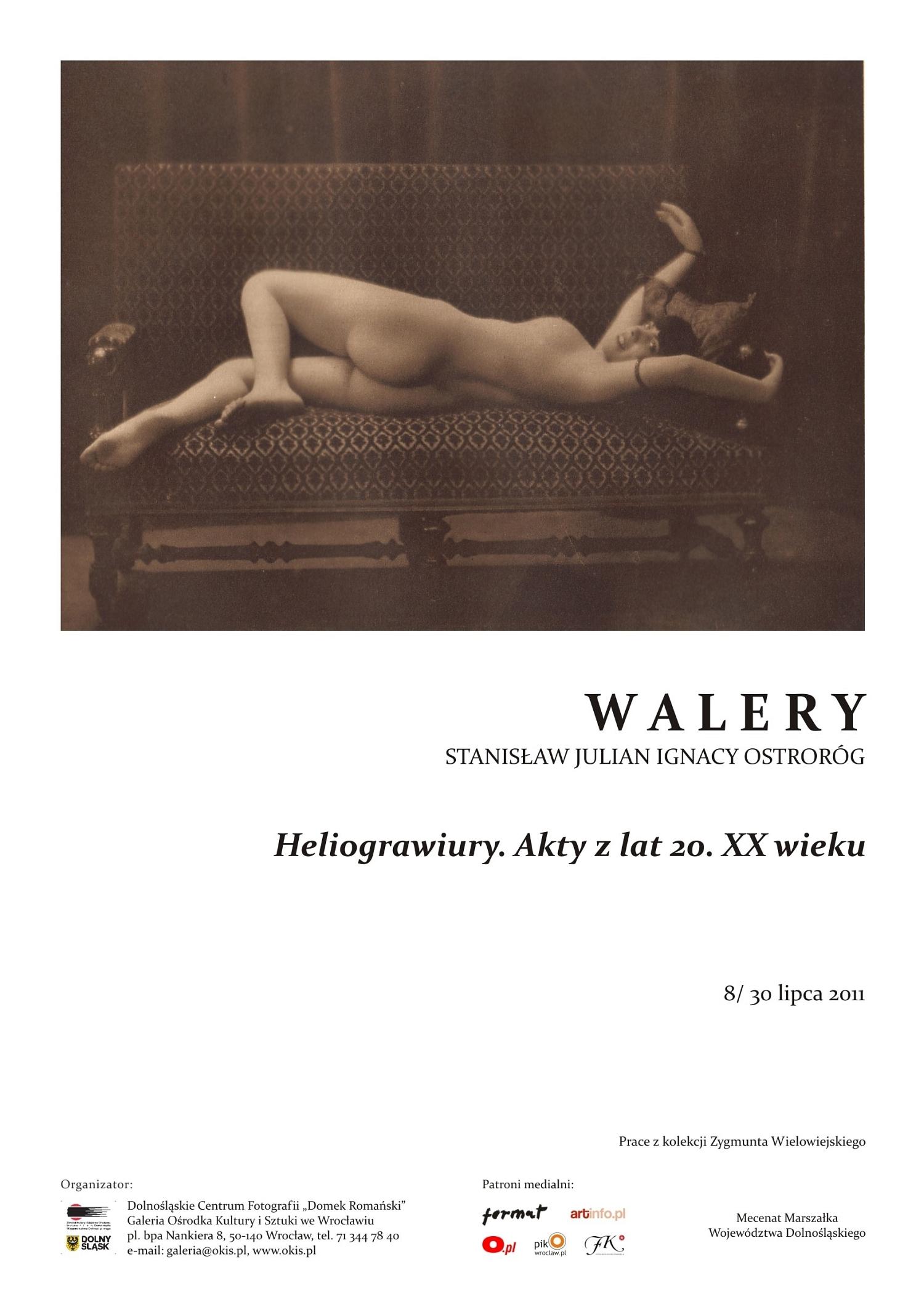 Walery - Heliograwiury - plakat wystawy (z materiałów organizatora)